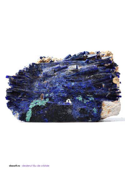 Cristale de Azurit contopite în Malachit